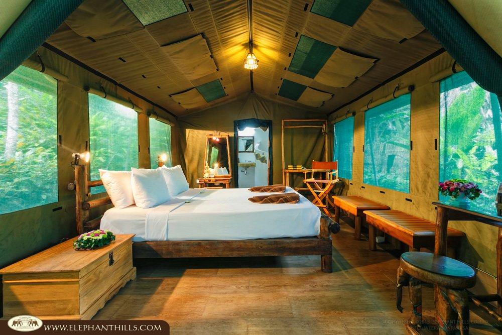 Elephant Hills tent Interior