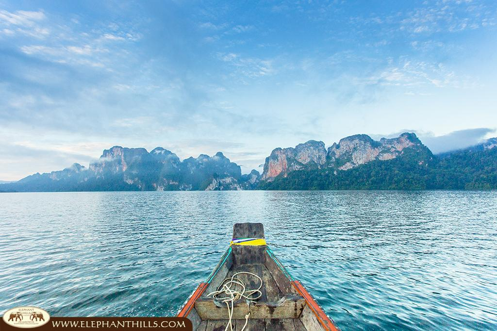 Cheow Larn Lake, an artifical situated in Southern Thailand's rainforest