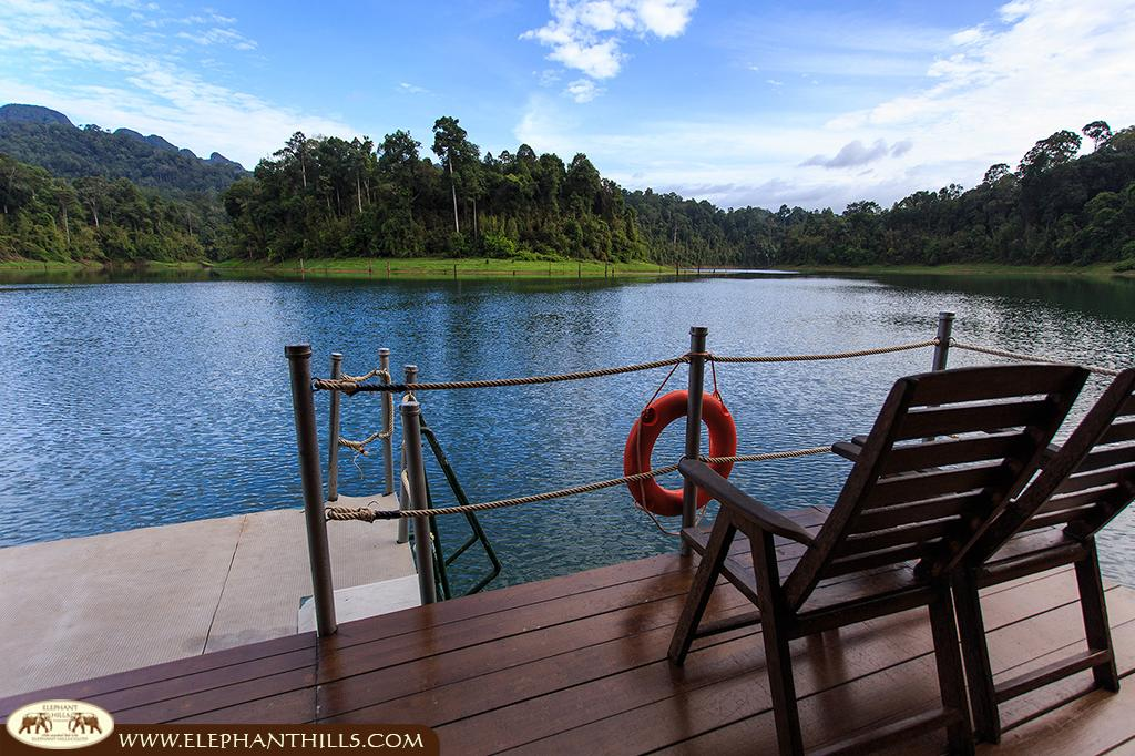Relax in a deck chair, facing the lake and enjoying the breathtaking view