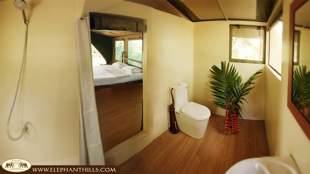 bathroom with westernstyle toilet and cold and hot shower