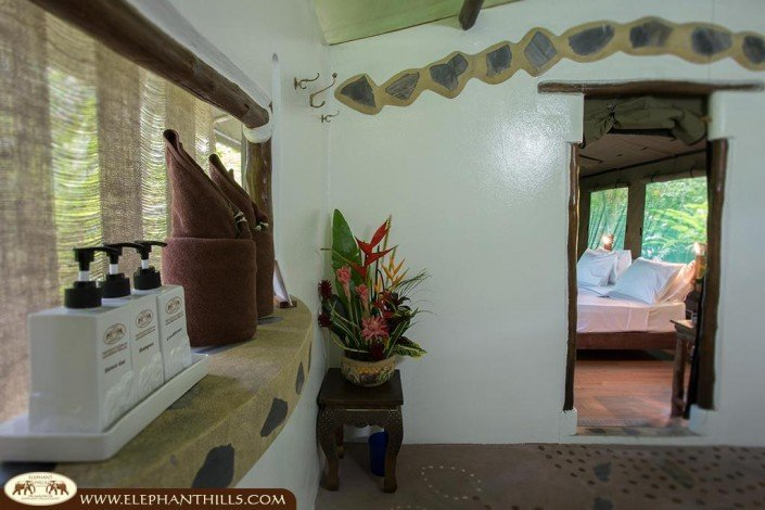 Each bathroom features hot and cold shower, westernstyle toilet, towels, shampoo and washing gel, hairdryer, safe
