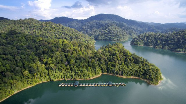 Elephant Hills Luxury Tented floating Rainforest Camp Cheow Larn Lake Khao Sok National Park Thailand