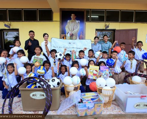 Elephant Hills donates sports equipment and stationery