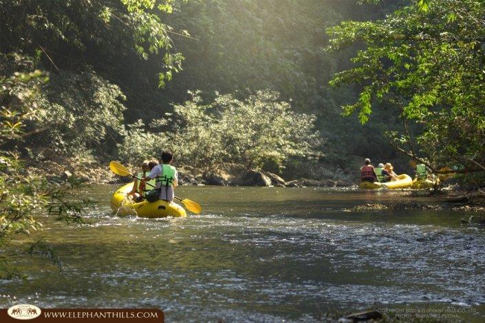Canoeing along Sok River