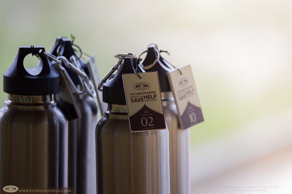 Elephant Hills Sustainability - Reusable stainless steel bottles